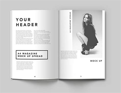 magazine mockup template free 16 a4 psd mockup templates images flyer mock up template