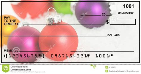 Check My Own Background Free Blank Personal Check For Stock Photo Image 50193272