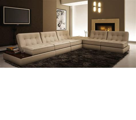 Modern Bonded Leather Sectional Sofa by Dreamfurniture 5055 Modern Bonded Leather