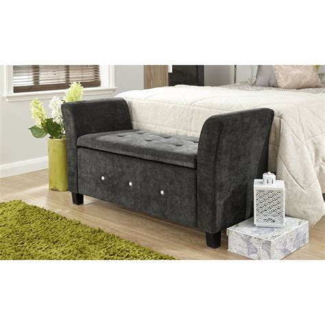 blanket storage bench verona chenille diamante window seat ottoman storage box