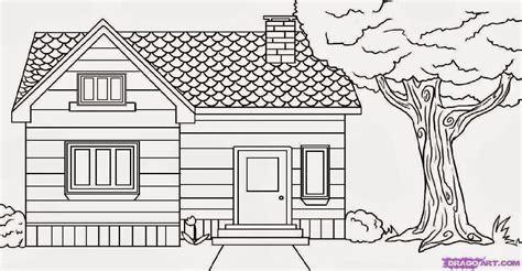 cara menggambar rumah dan pemandangan cahaya rumahku