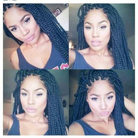 what type of hair does janet use to braid her hair very neat box braids or back in the day i use to call