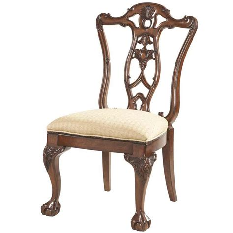 claw dining room side chair decorative wood back by