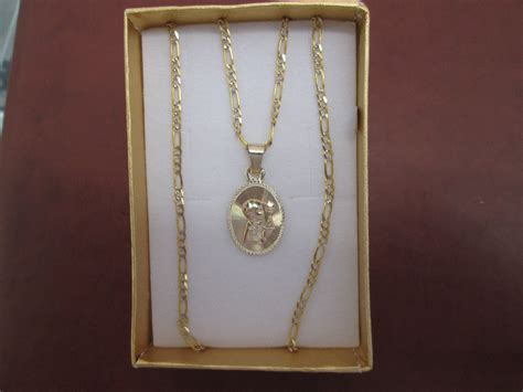 cadena y medalla para primera comunion oro 10 kilates - Cadena De Oro 10 Kilates Precio Mexico