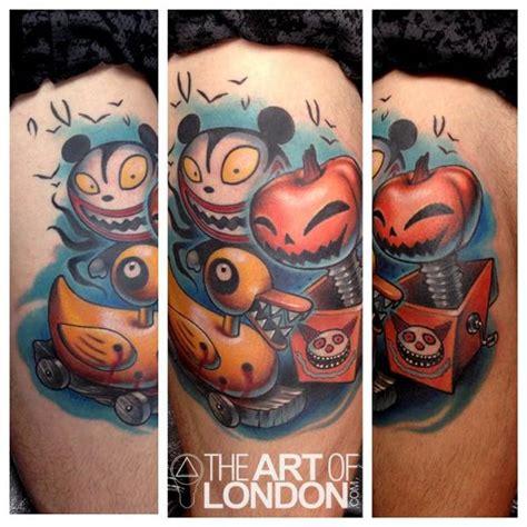 new school pumpkin tattoo pumpkin in a box duck new school tattoo by the art of