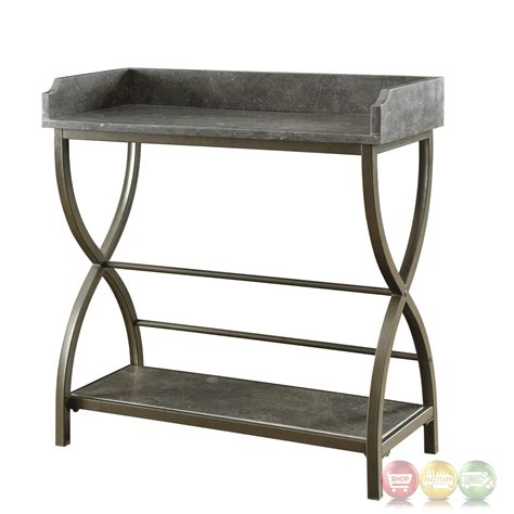 metal accent table bluestone accent table with bronze metal base