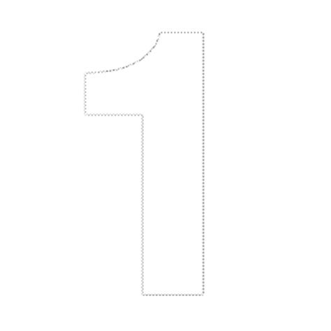 printable numbers 1 10 a4 cut out number 1