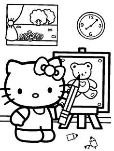 hello kitty tea party coloring pages hello kitty her many shoes coloring page tea parties