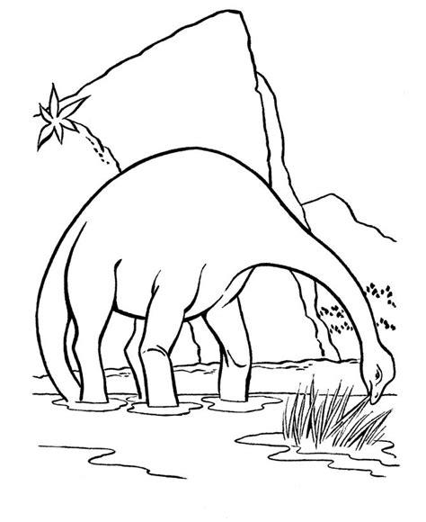 dinosaur coloring pages apatosaurus  brontosaurus