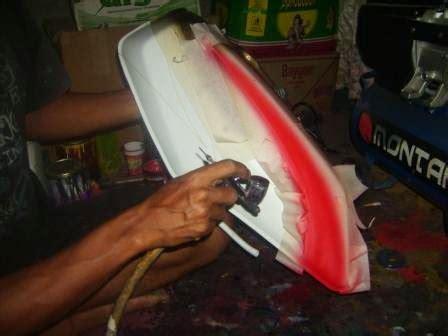 peralatan airbrush untuk belajar airbrush motor sendiri motor expose