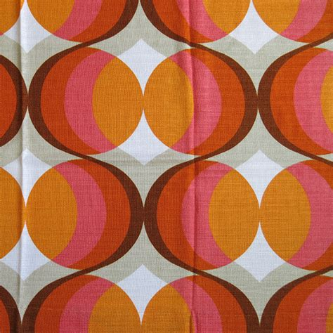 60s design classic 60s danish orange pink pop art curtains