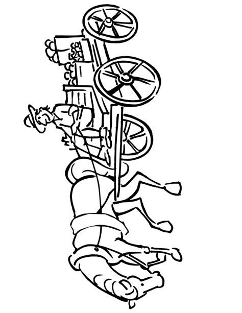 horse and cart free coloring pages