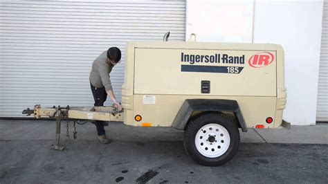 ingersoll rand p tow  compressor youtube
