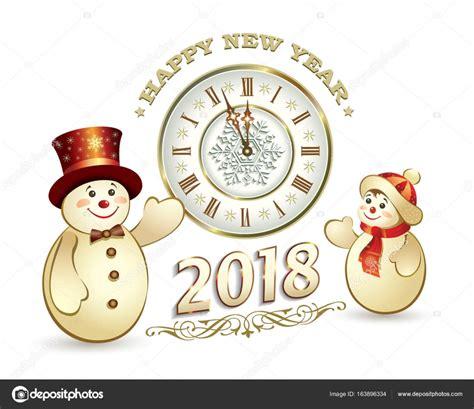postcard happy  year    snowman stock vector  seriga