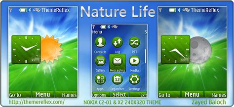 nokia x2 nature themes 7210 supernova themes themereflex