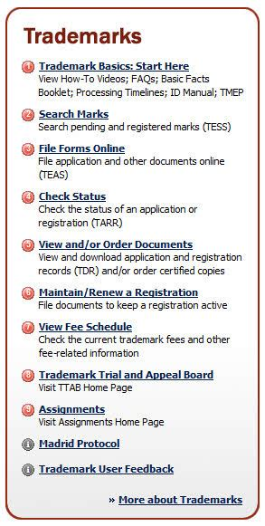 us patent office home page