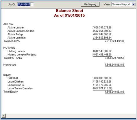 cara membuat neraca balance sheet manyajikan laporan keuangan di myob blog manajemen keuangan