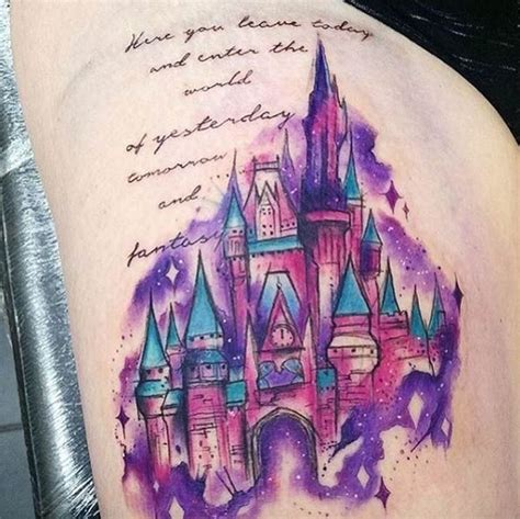 disney watercolor tattoo watercolor disney castle by natalie christian
