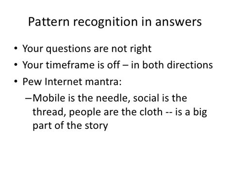 pattern recognition questions pdf digital technology impacts by 2020