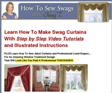 how to make professional curtains makeswagcurtains com how to make swag curtains video