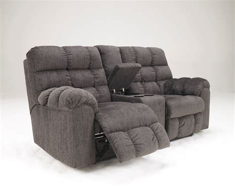loveseat console double recliner sofa with console furniture loveseat with