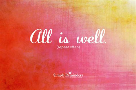 All Is Well all is well author zink