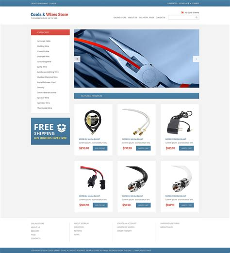 electronics store virtuemart template 50129