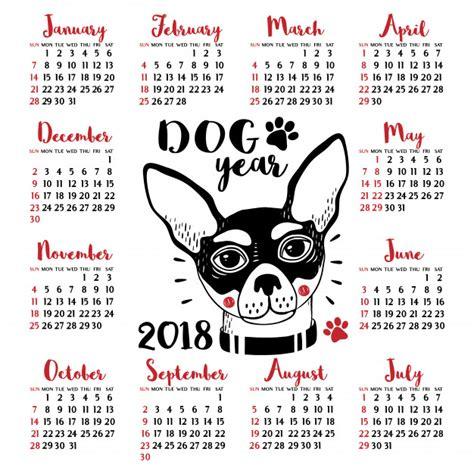 Calendario De Cachorro Calend 225 2018 Cachorro Ano Novo Chin 234 S Baixar
