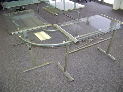 glass top office desk with drawers clear glass office desk very elegant glass office desk
