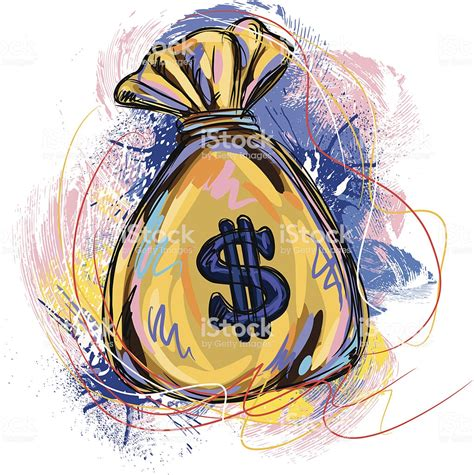 colorful money colorful money bag stock vector more images of