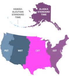 usa time zones hawaii us central time zone map
