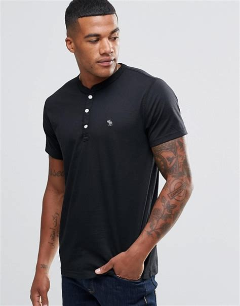 T Shirt Abercrombie 1892 Black abercrombie fitch abercrombie fitch henley t shirt black in slim fit