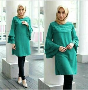 Blouse Tunik Panjang Wanita Terbaru Raflesia 7g5z model baju atasan muslim wanita tunik cantik lengan panjang terbaru