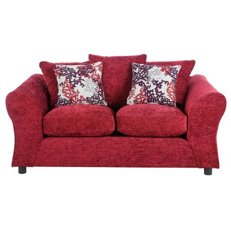 buy sofa fabric online buy home new clara 2 seater fabric sofa red at argos co