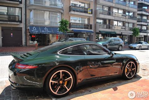 porsche brewster green one out of twelve copies spotted porsche 991 club coup 233