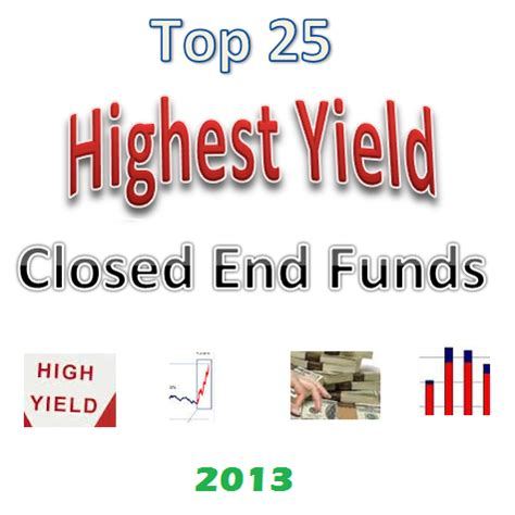 best yield top 25 highest yield closed end funds 2013 mepb financial
