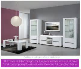 white high gloss living room furniture modern house