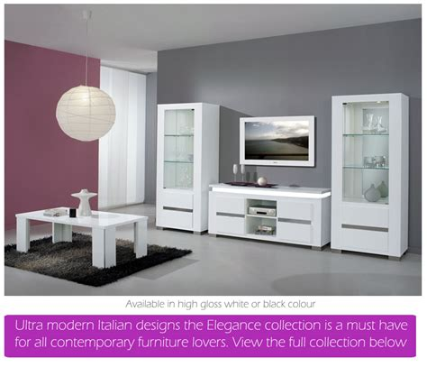White High Gloss Dining Furniture And Sets Em Italia Gloss Living Room Furniture