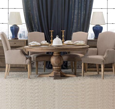 kingdom oak wood  pedestal dining table  zin home