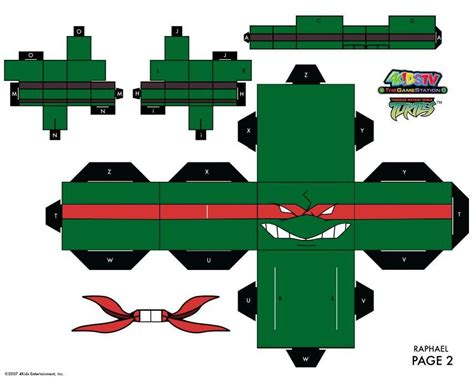 Mutant Turtles Papercraft - tortugas turtles manualidades a raudales