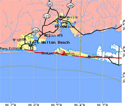 map of destin florida area destin map world map 07