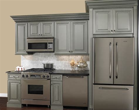 grey glazed cabinets for the home gray