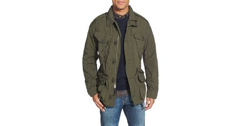 polo ralph twill combat jacket in green