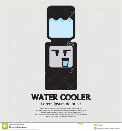 Water Dispenser Vector water cooler graphic stock vector image 43188417