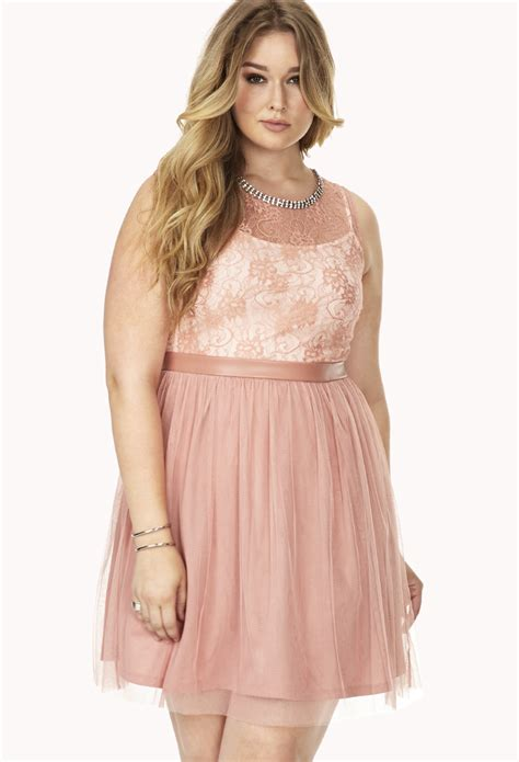 Forever21 Lace Dress forever 21 hour lace tulle dress in brown mauve lyst
