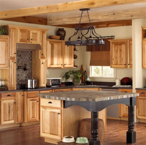 natural kitchen design assembled hickory kitchen cabinets these natural hickory