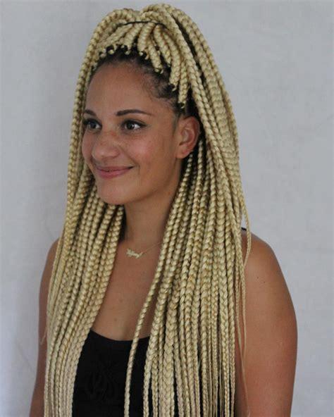 dark blonde braid extensions hair braids extensions boxbraids on instagram