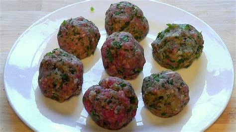 meatballs lamb mince  chilli green pepper recipe