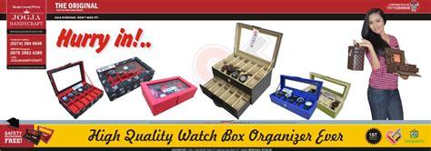 Kotak Jam Tangan Brown Croco Doff Isi 10 jogjahandycraft id beli box organizer langsung dari jogja handycraft