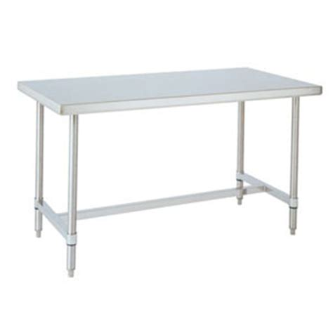 commercial kitchen table stainless tables with no shelf open base kitchen